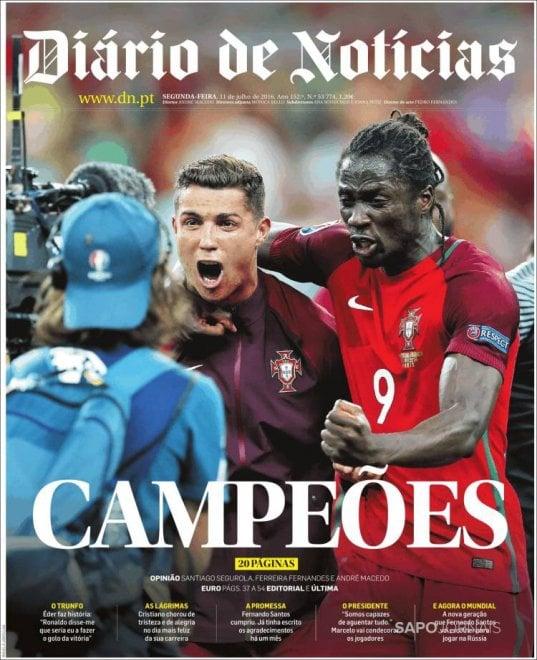 """Portogallo-Francia, le prime pagine dei quotidiani dal mondo: """"Gloria senza Ronaldo"""""""