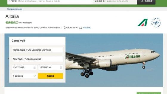 TripAdvisor permette di recensire anche i voli aerei
