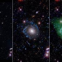 Studenti scoprono una galassia Frankenstein, è un collage cosmico