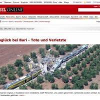 Scontro fra treni in Puglia, la notizia sui siti internazionali