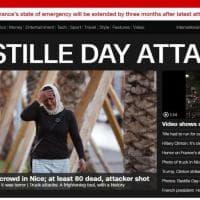 Strage Nizza, la notizia sui siti di tutto il mondo