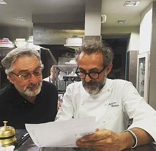 De Niro e Bottura per una mensa degli scarti nel Bronx