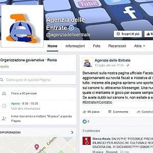 L'Agenzia delle entrate sbarca su Facebook per rispondere ai cittadini