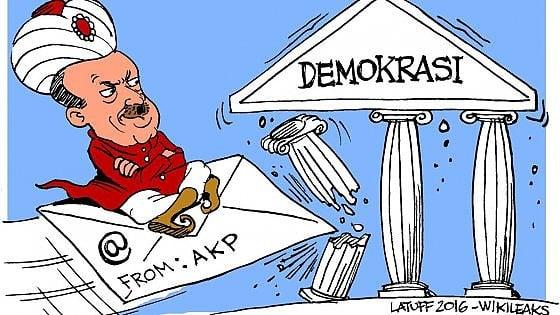 """Turchia, Wikileaks pubblica 295mila email dell'Akp: """"In risposta alle epurazioni del governo"""""""