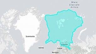 Ma la Groenlandia è davvero  così grande? E l'Italia? Scoprilo