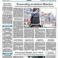 Monaco, la notizia dell'attentato sulle prime pagine dei quotidiani tedeschi