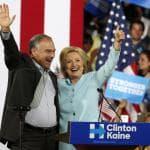 """Hillary e Kaine lanciano la sfida: """"L'America non è stata costruita con la paura"""""""