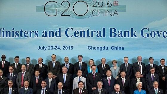 """La preoccupazione del G20: """"Brexit aumenta incertezza sull'economia"""""""