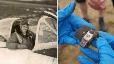 Recuperato aereo abbattuto nel '45 a Bologna i familiari del pilota Usa    video
