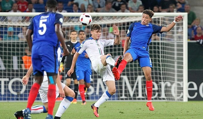 Italia-Francia  0-3 : la finale in  diretta