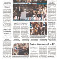 Hillary, prima candidata donna alla Casa Bianca: ma stampa Usa mette Bill in prima pagina