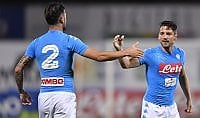 Napoli da pokerissimo, tris Genoa  e l'Udinese gioca a tennis in Austria