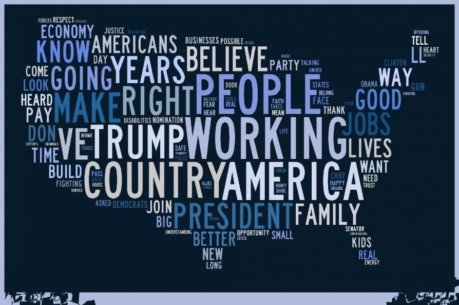 I discorsi di Trump e Clinton per la nomination: le parole chiave a confronto
