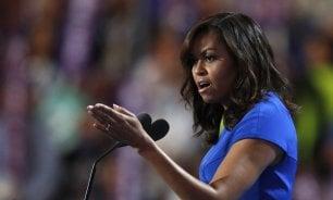 Michelle Obama star   foto   a convention democratica   Video  La forza delle parole