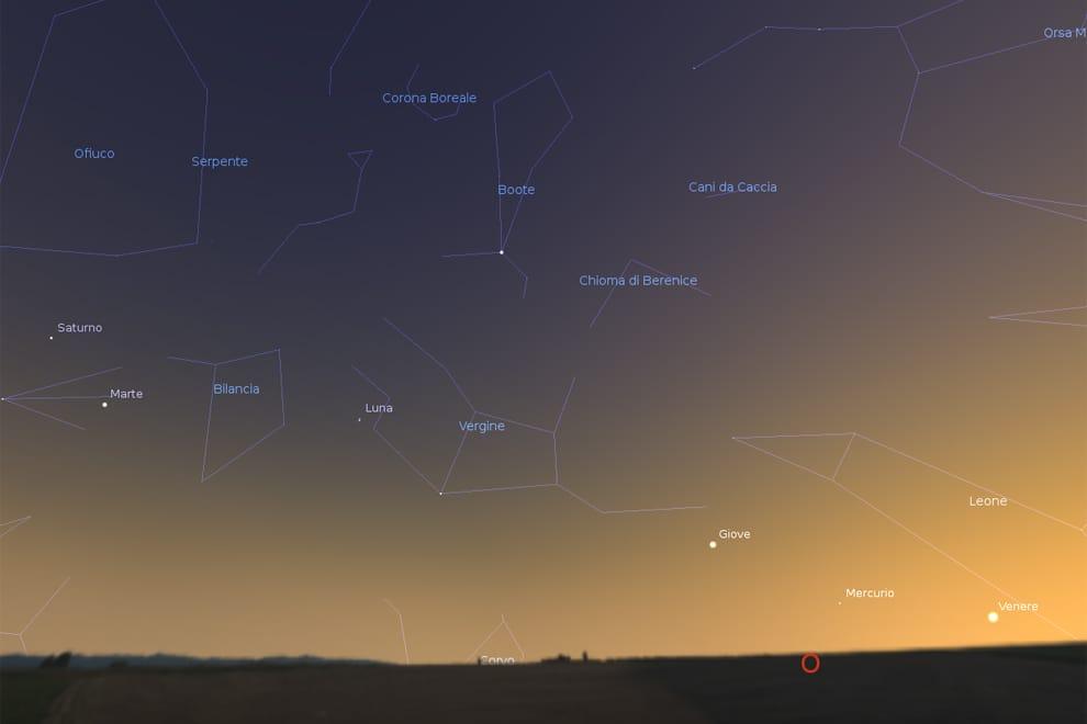 Aperitivo con i pianeti: dopo il tramonto si accendono i 5 più luminosi