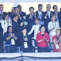 Rio 2016, Renzi in tribuna al Maracanà applaude gli azzurri