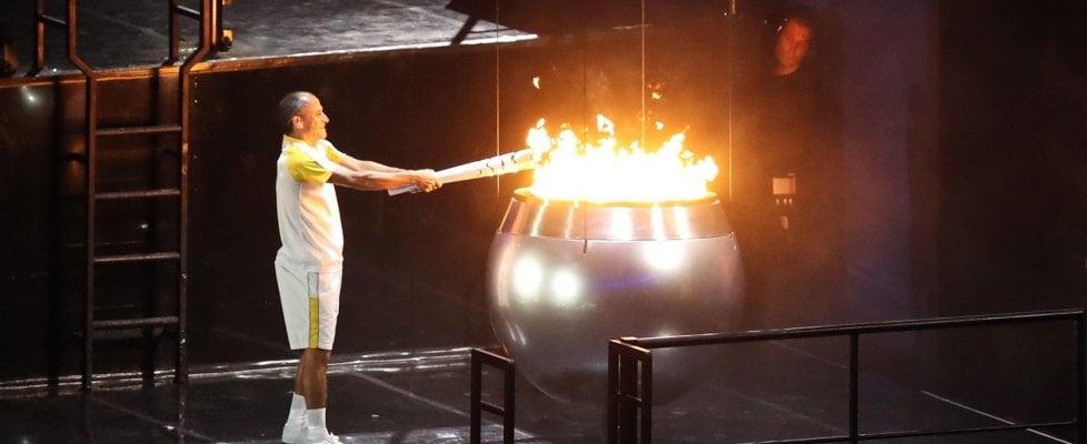Rio 2016, aperti i Giochi: Vanderlei De Lima ultimo tedoforo