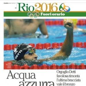 """Rio 2016, con Repubblica su iPad c'è """"Fuori orario"""": le notizie della notte nel giornale del mattino"""