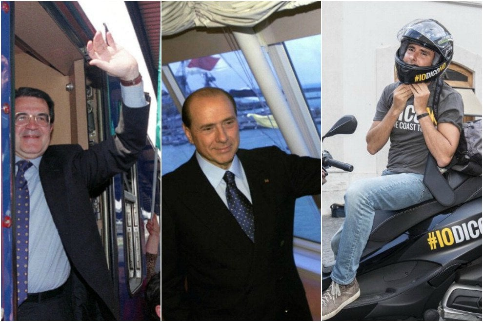 Dal bus di Prodi allo scooter di Di Battista: le campagne elettorali 'on the road'