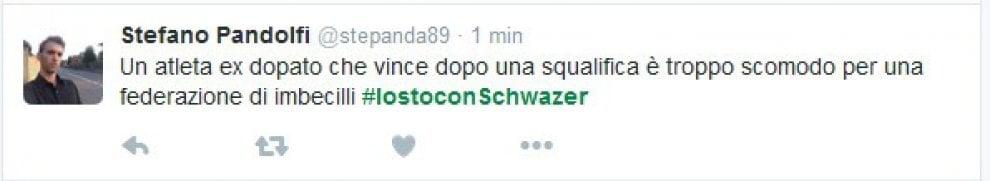 Caso Schwazer, Twitter si schiera con l'atleta: #iostoconSchwazer