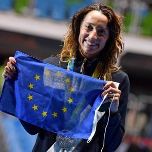 Bandiera Europa sul podio, Ue ringrazia Di Francisca: ''Sport incoraggia dialogo''