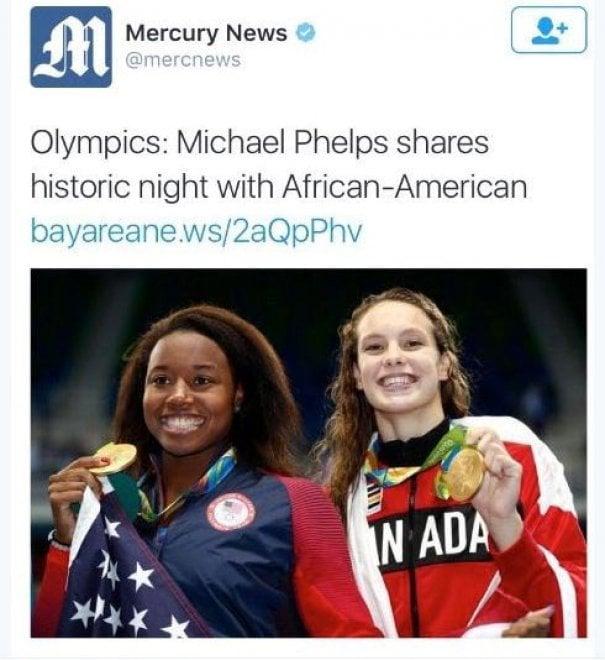 Rio 2016, Simone Manuel offesa da quotidiano Usa: titolo razzista per il suo trionfo