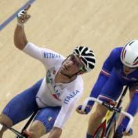Ciclismo su pista, Omnium: Viviani sogna l'oro, è secondo dopo tre prove