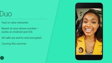 """Google sfida Skype e Facetime Ecco """"Duo"""", app per videochat"""