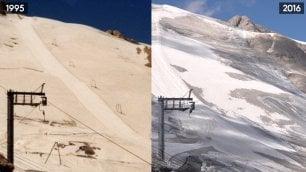 Marmolada morte di un ghiacciaio lo scioglimento visto dal drone