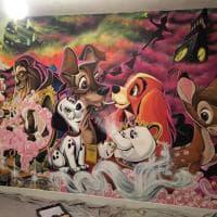 Gran Bretagna, un maxi murale Disney: capolavoro per la stanza della figlia