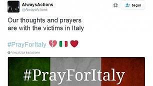 #PrayforItaly: sui social arriva solidarietà da tutto il mondo
