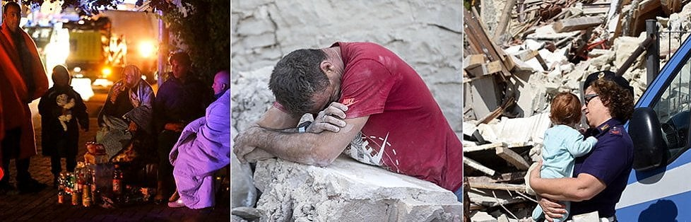 TERREMOTO DEVASTA IL CENTRO ITALIA: OLTRE 130 MORTI    Diretta  Molti bimbi tra le vittime, decine i dispersi    -     foto    Una piccola estratta viva dopo 17 ore. Dramma all'hotel Roma   foto   Più colpiti: Amatrice, Accumoli, Arquata    mappa    /   Tweet degli inviati