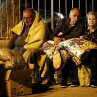 Terremoto, la prima notte degli sfollati