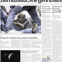 Terremoto, la notizia sulle prime pagine dei giornali stranieri