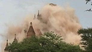 Sisma anche in Myanmar, distrutti 200 templi della valle di Bagan   vd