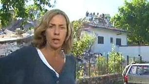 Crollo della casa in diretta  la paura della giornalista Cnn