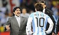 """Maradona attacca Messi """"Il ritiro era una messinscena"""""""