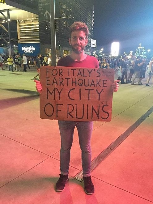 "Terremoto, l'omaggio di Springsteen con ""My city of ruins"""
