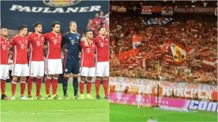 Bundesliga si ferma per 1 minuto Striscione in italiano per le vittime