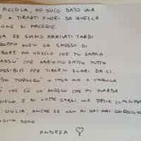 Terremoto, la commovente lettera del vigile del fuoco: