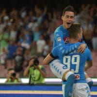 Napoli-Milan 4-2, decidono le doppiette di Milik e Callejon