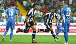 Udinese-Empoli 2-0: Karnezis para, primo squillo dei bianconeri
