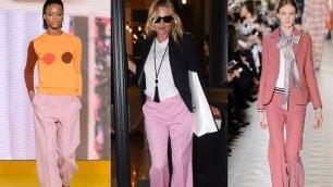I nuovi pantaloni sono rosa e oversize: ecco come indossarli