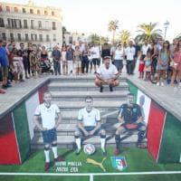 Italia, street art in 3D per presentare la nuova maglia da trasferta