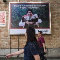 Trudeau in Cina per il G20, sui muri di Pechino la sua foto con i panda