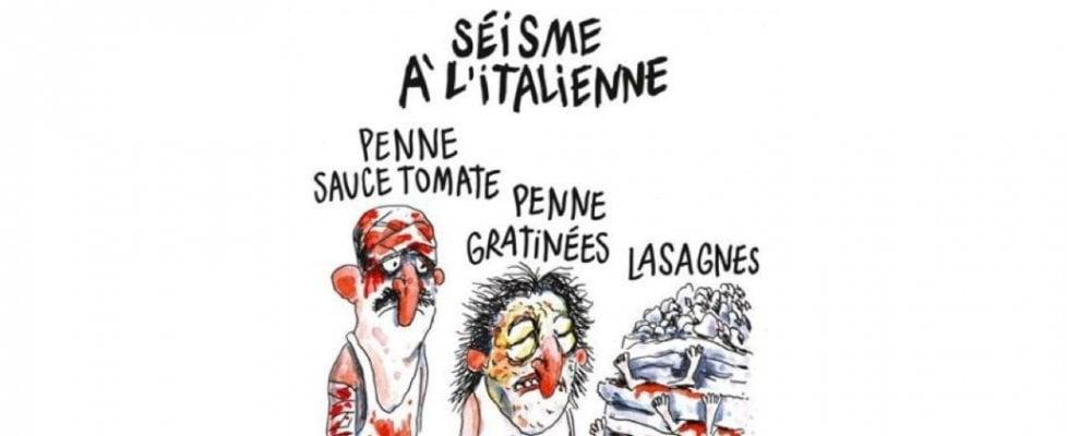 Charlie Hebdo, vignette su terremoto in Italia: persone sepolte come strati di lasagne. Ambasciata Francia: