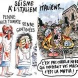 Polemica su Charlie Hebdo dopo i disegni sul terremoto
