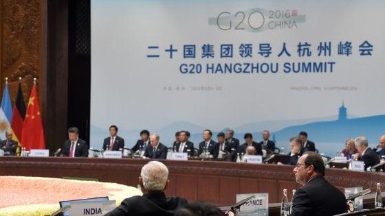 """G20, la bozza del documento finale: """"Stimolare crescita inclusiva e sostenibile"""""""