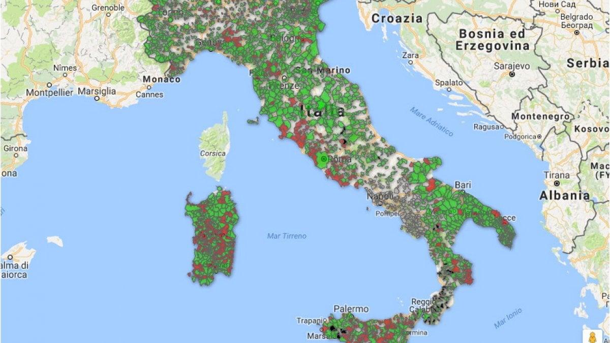 Terremoto, anche Accumoli tra i comuni senza piano antisismico. Ecco la mappa