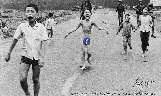 """Facebook """"cancella"""" post con foto bimba vietnamita bruciata dal Napalm. Poi la retromarcia"""